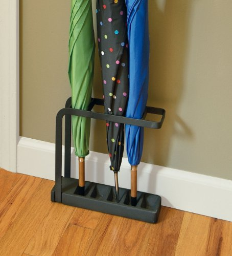 Umbrella Stand Black: Polder Slimline Umbrella Stand, Black , New, Free Shipping