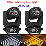 2pcs/lot 150W gobos super bright LED moving head light for stage dj club