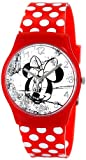 Minnie Mouse Girl's Quartz Watch with White Dial Analogue Display and Red Other Strap 25819