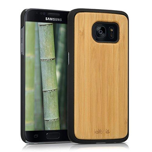 kalibri-Schutzhlle-aus-Holz-fr-Samsung-Galaxy-S7-Premium-Echtholz-Case-Cover-mit-Kunststoff-in-Hellbraun