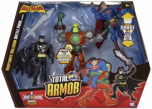 Buy Low Price Mattel Kryptonite Collision Batman & Superman vs Metallo Battle Pack: Batman The Brave and the Bold Total Armor Series Figure (B0054GMONQ)