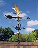 """Whitehall Products, Eagle Aluminum 30 inch Full-Bodied Weathervane 03214, 11.5"""" in length by 9 inches high, gold-bronze"""