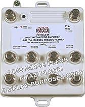 8-Port Bi-Directional Cable TV HDTV Amplifier Splitter Signal Booster with Passive Return