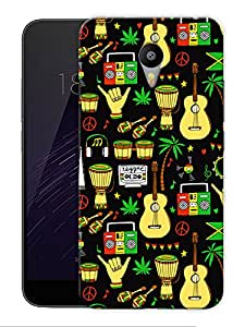 "Rasta Music Life Printed Designer Mobile Back Cover For ""Google Infocus M2 Note"" By Humor Gang (3D, Matte Finish, Premium Quality, Protective Snap On Slim Hard Phone Case, Multi Color)"