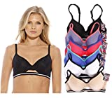 B40015-34D Just Intimates Women's Bras (Pack of 6)