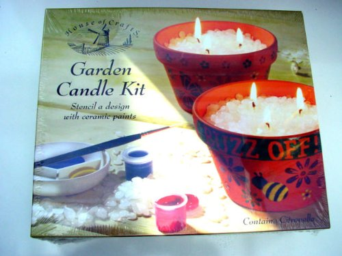 GARDEN CANDLE KIT BY HOUSE OF CRAFTS CITRONELLA CANDLES