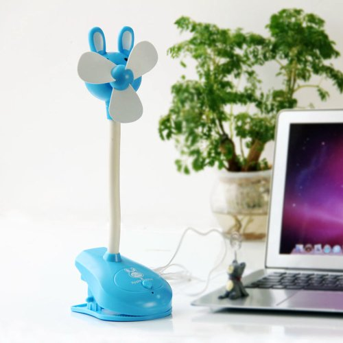 Blue Quiet Soft Blades Clip-On Usb Rechargeable Small Cooling Fan Stroller Fan front-783829