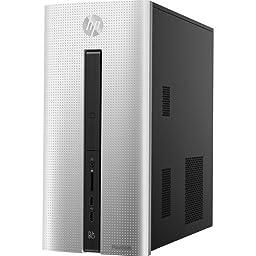 2016 HP Pavilion 550 Desktop, AMD Quad-Core A8-6410 Accelerated Processor with AMD Radeon R5 graphics, 8GB Memory, 1TB Hard Drive, DVD RW, WiFi, Bluetooth, Windows 10 (Certified Refurbished)