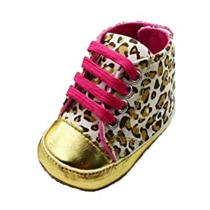 Zehui - Zapatos suaves y cálidos para bebés de 0-18 meses, diseño de leopardo - Bebe Hogar