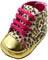 Zehui Lovely Warm Soft Baby Infant Toddler Boy Girl Leopard Shoes 0-18 Month