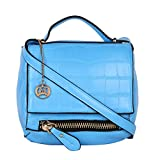 Moedbuille Blue Letherette Sling bag