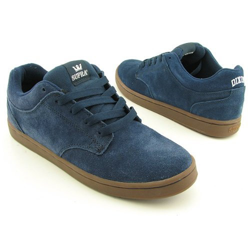 Supra Dixon Skate Shoe - Men's Carson Navy Suede, 10.0