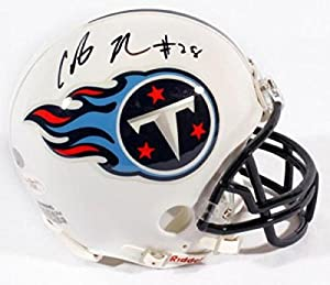 Chris Johnson Signed Mini Helmet - JSA Certified - Autographed NFL Mini Helmets