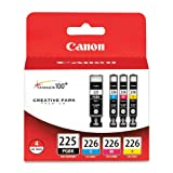 Canon PGI-225 BK CLI-226 4530B008 C,M,Y 4 Pack Value Pack in Retail Packaging