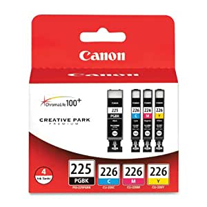 Canon PGI-225 BK/ CLI-226 4530B008 C,M,Y 4 Pack Value Pack in Retail Packaging