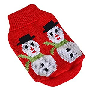 Christmas Style Snowman Pattern Sweater for Pets Dogs (Assorted Sizes) by shoppingeasyonline