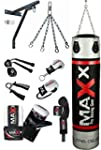 12 pcs punchbag set blk/silver Punch...