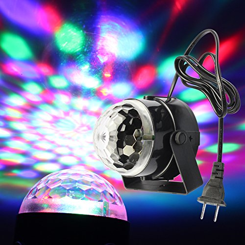 Full Color Changing RGB Crystal Magic Rotating Ball Effect Led Stage Lights 3W for KTV Xmas Party Wedding Show Club Pub Disco DJ