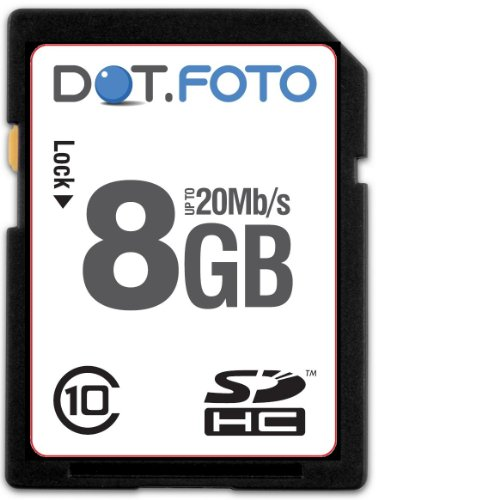 Dot.Foto Extreme SDHC 8Gb Class 10 (20Mb/s) Speicherkarte f&#252;r Casio EXILIM EX-F1 | EX-FC100 | EX-FC150 | EX-FC200S | EX-FH15 | EX-FH20 | EX-FH25 | EX-FH100 | EX-FS10 | EX-H5 | EX-H10 | EX-H15 | EX-H20G | EX-H30 | EX-H50