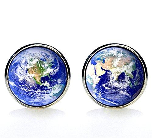 MFYS Jewelry 地球儀 世界地図 ラウンド カフス 【専用収納ケース付き】