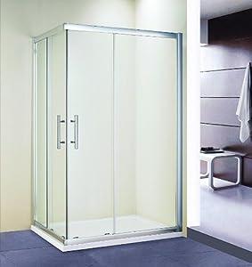Duschkabine Duschabtrennung Dusche Duschwand Schiebetür Eckeinstieg 100x80cm  Kritiken und weitere Informationen
