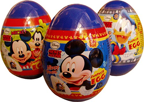 Mickey And Friends Plastic Surprise Egg With Cookie (Pack of 3)