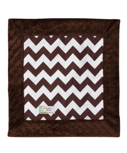 Baby LUXE Lovey / Security Blanket - Brown & White Chevron on Brown Minky