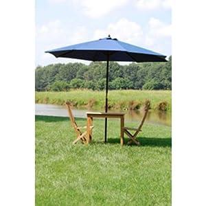 10' Offset Umbrella in Navy--Outdoor Living-Patio Furniture-Patio
