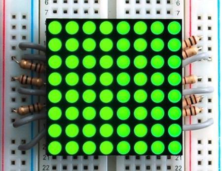 """1.2"""" 8X8 Green Led Matrix"""
