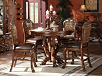 Hot Sale Dresden 5-Piece Counter Height Dining Set, Table/4 Chairs, Cherry Oak Finish