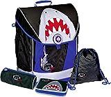 -Juego de mochila, 4piezas. Shark Attack