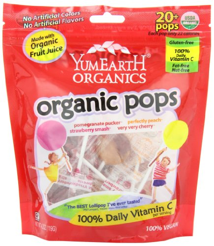 YumEarth Organic Lollipops, 4.2 Ounce