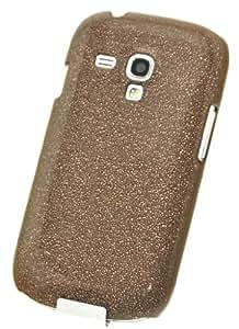 Circle Case Coque en plastique pour Samsung Galaxy S III Mini i8190 Marron Effet Sable Sucre Diamant