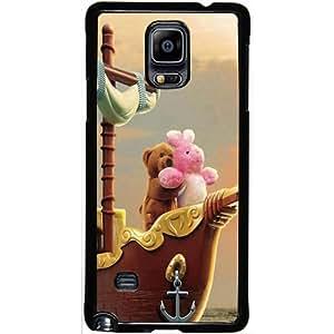 Casotec Funny Titanic Design 2D Hard Back Case Cover for Samsung Galaxy Note 4 - Black