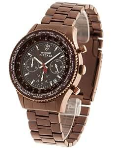 DeTomaso - SM1624C-BN - Montre Homme - Quartz - Chronographe - Chronomètre - Bracelet Acier Inoxydable Marron