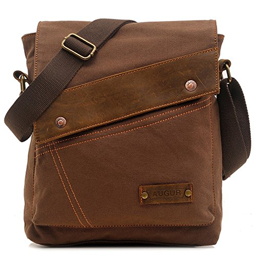 EcoCity Vintage Small Canvas Messenger Shoulder iPad Bags For Men & Women
