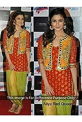 Designer PORTLAND ORANGE GEORGETTE Bollywood Replica Dress