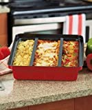 The Sophie Rachael Home Collection 14W-1270CS Carbon Steel Lasagna Pan with 3 Removable Dividers