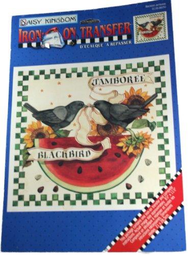 Daisy Kingdom Iron-On Transfer Blackbird Jamboree 11-1/2 x 8-1/2 Inch