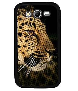 PRINTVISA The Tiger Premium Metallic Insert Back Case Cover for Samsung Galaxy Grand Neo - I9060I - D6032