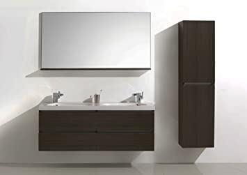 Mobile da bagno impianto, Badmöbelset 140 cm, armadietto, bianco lucido