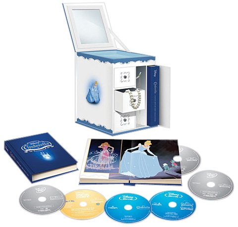 Cinderella Trilogy With Limited Edition Collectible Jewelry Box Packaging (six-disc Combo: Blu-ray/dvd + Digital Copy) Picture