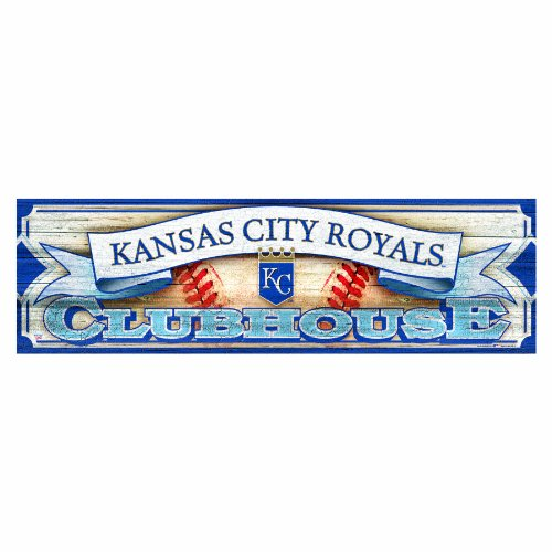 MLB Kansas City Royals 9-by-30 Wood Sign