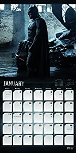 "Trends International 2017 Wall Calendar, September 2016 - December 2017, 11.5"" x 11.5"", Batman v Superman: Dawn of Justice at Gotham City Store"