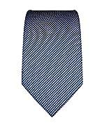 Vincenzo Boretti Corbata Seda Krawatte Aus Reiner Seide, Gemustert (Azul Oscuro)