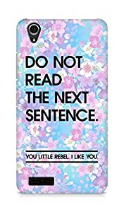 AMEZ do not read the next sentence i like you Back Cover For Lenovo A3900