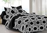 Cenizas 100% Cotton Sateen Double Bedsheet With 2 Pilow Cover (200 TC)