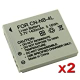 eForCity 2P NB4L Battery Compatible with Canon Powershot Digital ELPH SD1000 / SD1100 IS