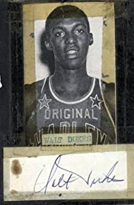 Autographed Walt Dukes Photo - Cut Harlem Globetrotters