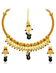 Sukkhi Fashionable Gold Plated Temple Jewellery Necklace Set